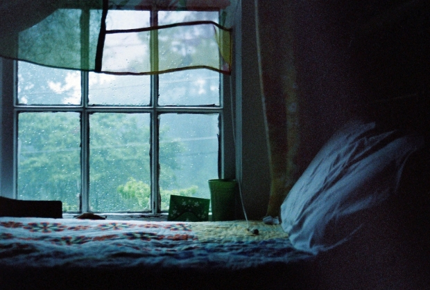 raining in the bed